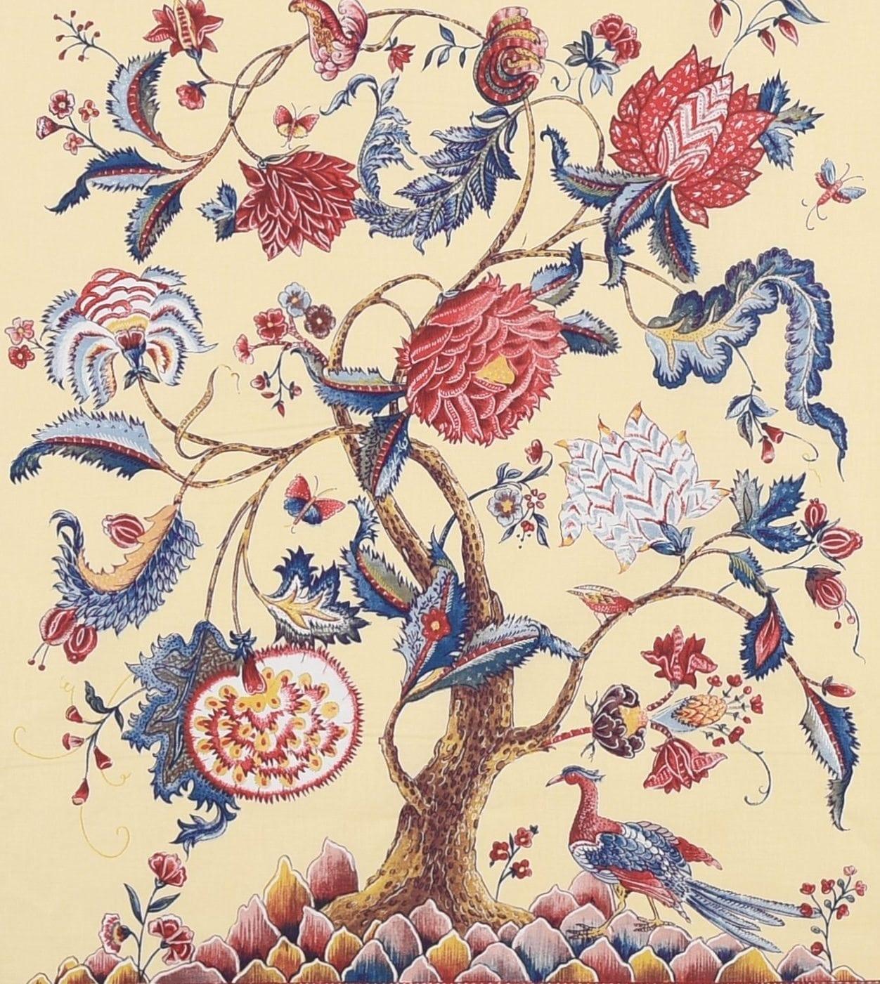 Panel Tree of life (cream – brick red)