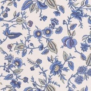 Oberkampf Petit (ecru, Delfts blauw)