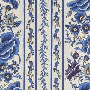 Oberkampf rayures (ecru, bleu de Delft)