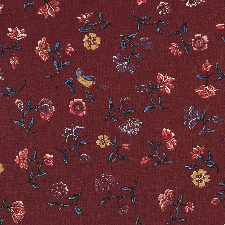 Bloemen uit het paradijs (bordeaux rood)