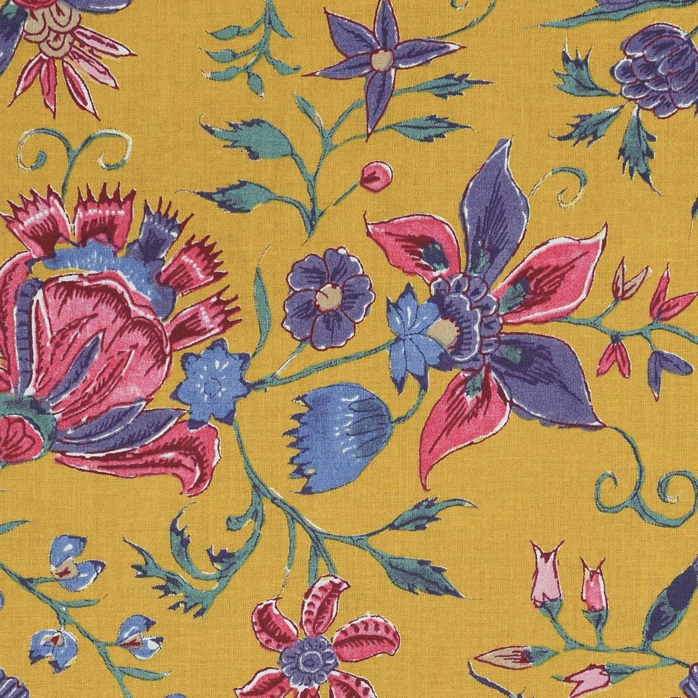 'Les Fleurs d' Inde' (jaune-ocre)
