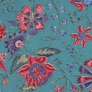 'Les Fleurs d' Inde' (bleu ancien)