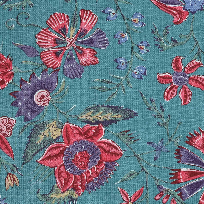 'Les Fleurs d' Inde' (antiek blauw)