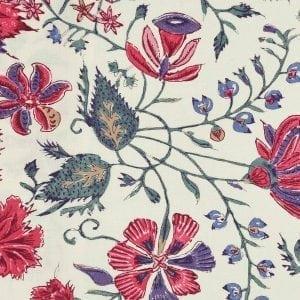 'Les Fleurs d' Inde' (ecru, multi color)