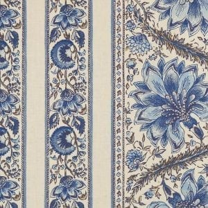 Coromandel rayures ( ecru foncé – bleu de Delft)