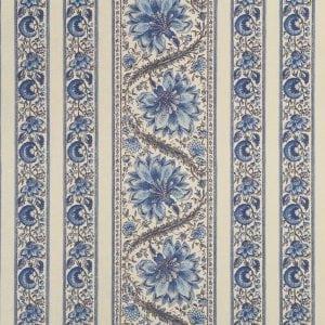 randmotief Cormandel Delfts blauw